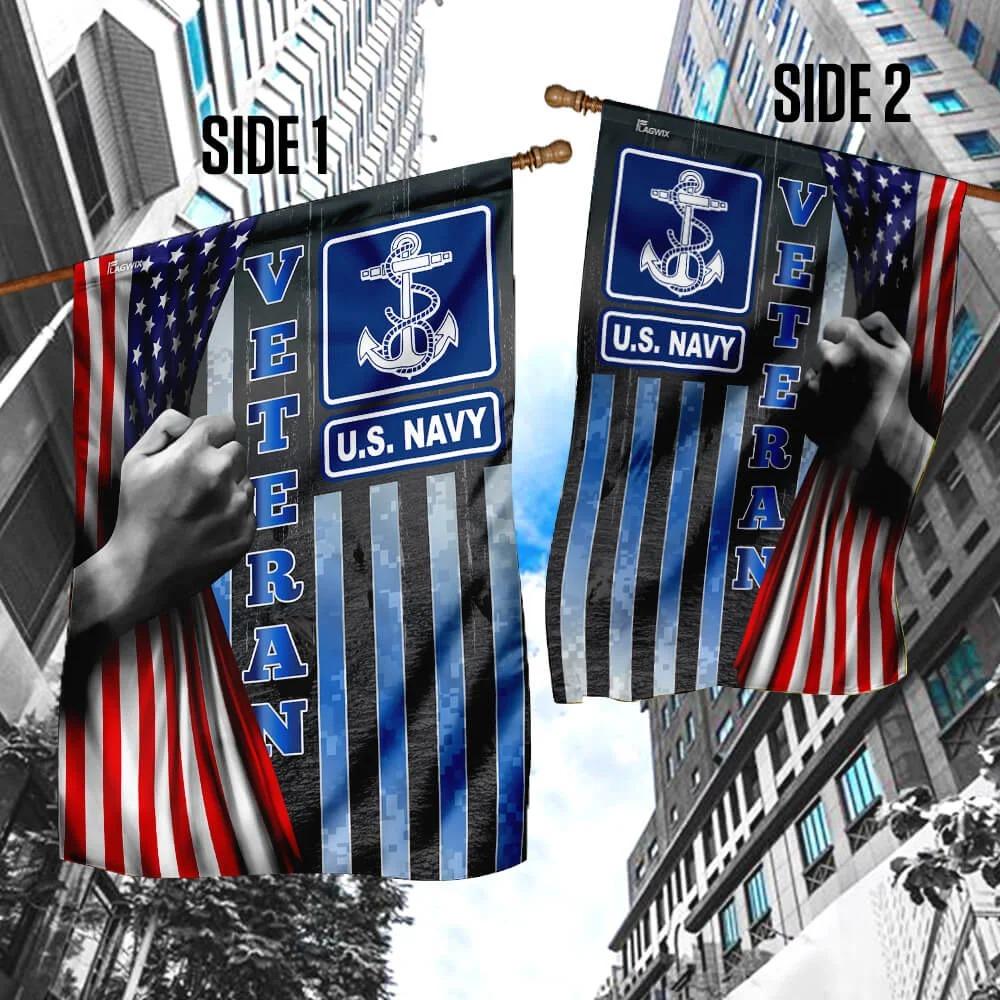 U.S Navy Veteran American Flag