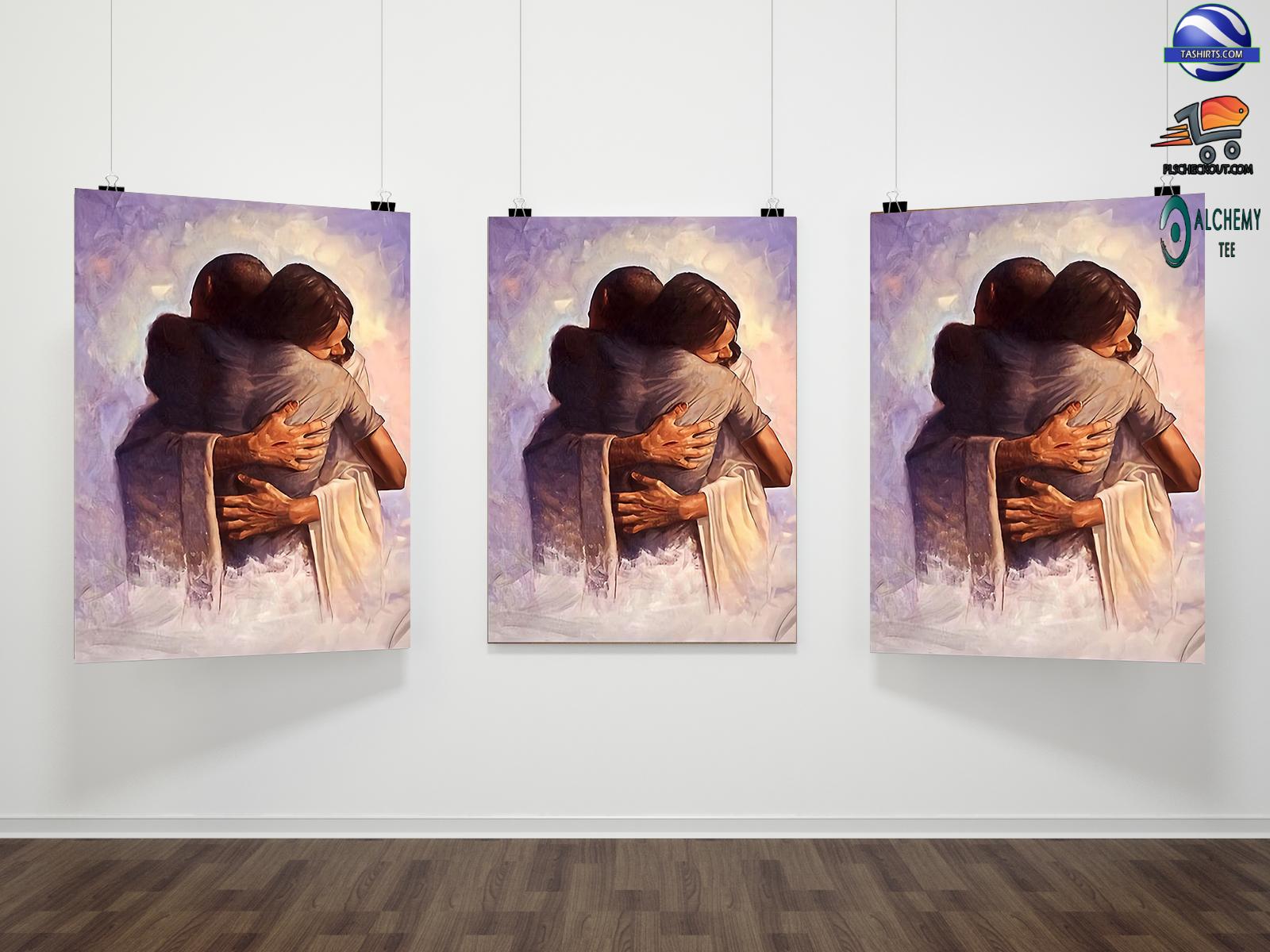 Jesus Christ Welcome Home Hug Poster