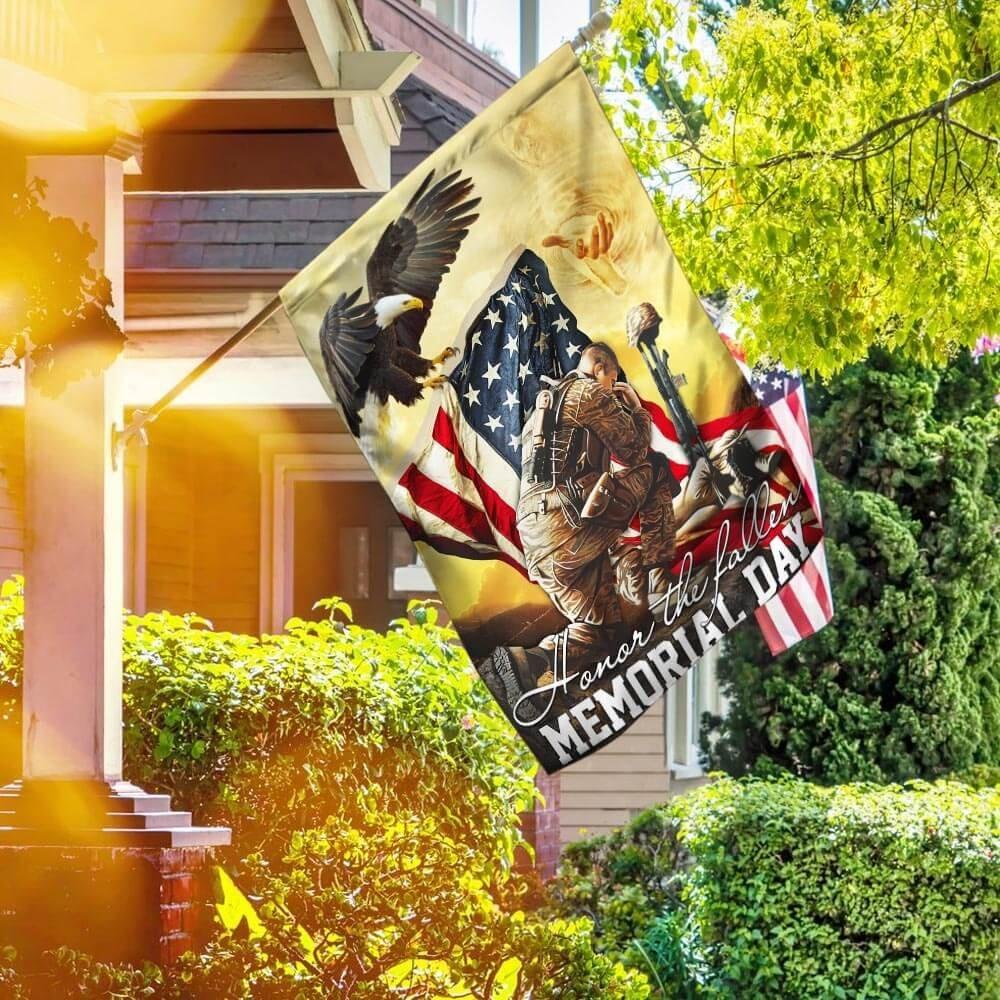 US Veteran Honor The Fallen Memorial Day Flag