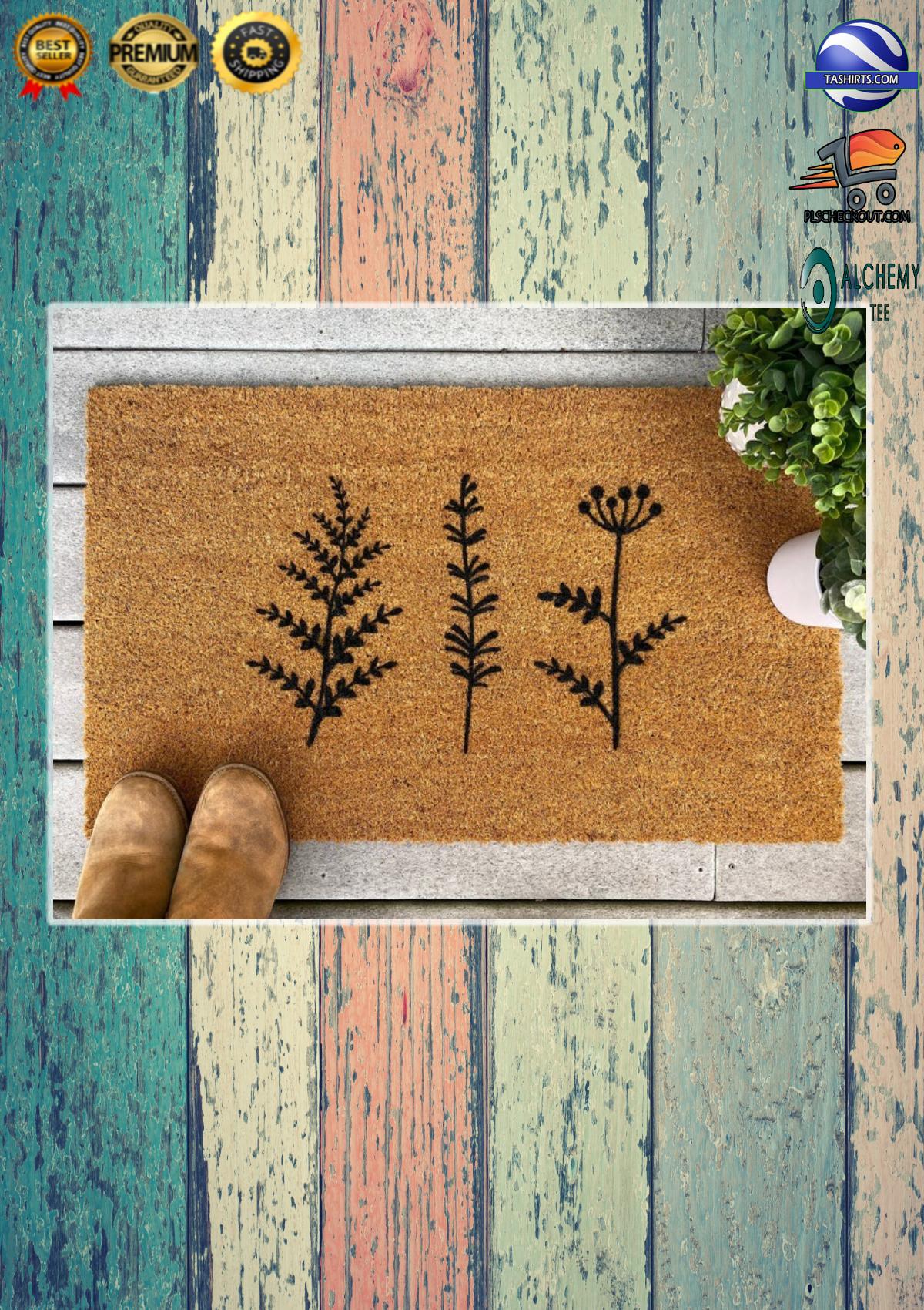 Plant Floral Trio Coir Doormat