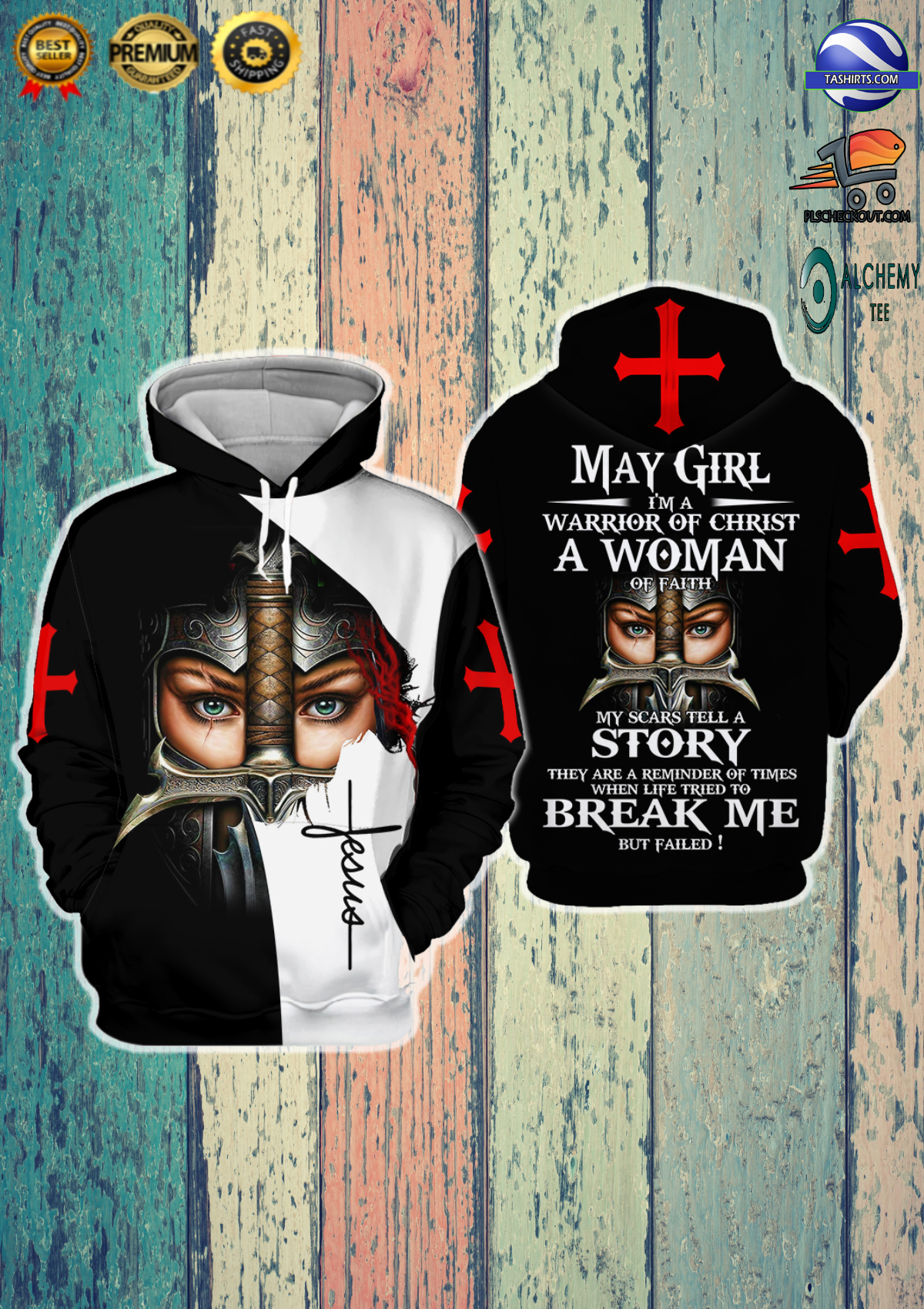 May Girl I'm A Warrior Of Christ 3D Hoodie and shirts