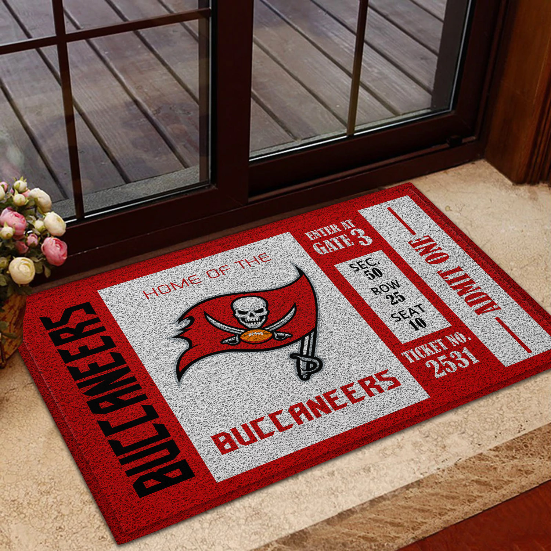 NFL Tampa Bay Buccaneers Team Ticket Runner Doormat