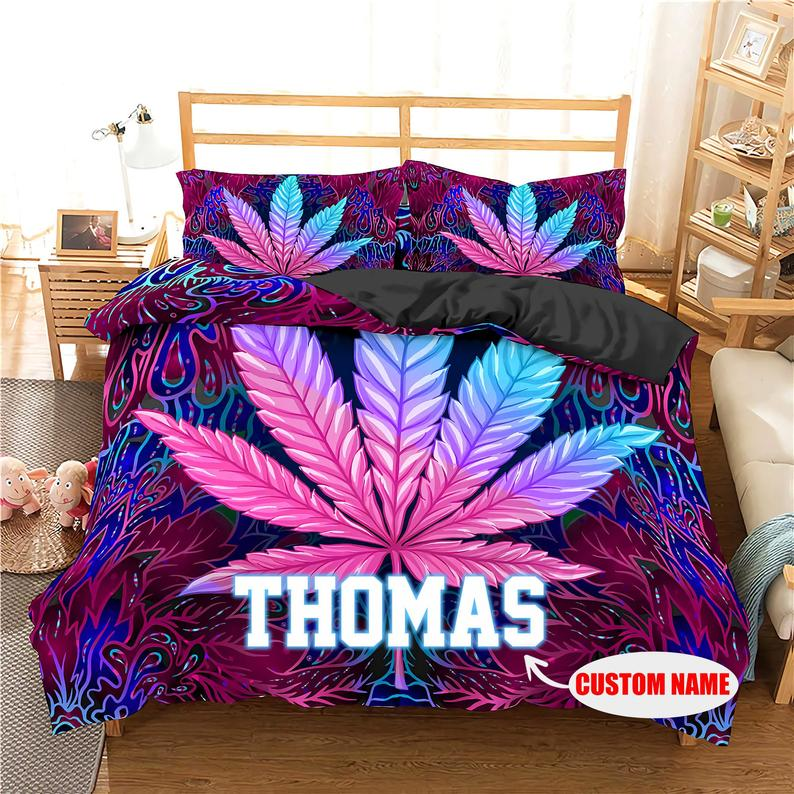 Worlds dopest dreams weed cannabis bedding set