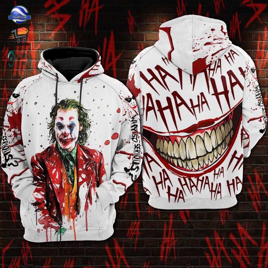 Joker Funny Haha 3D Hoodie Men and Women