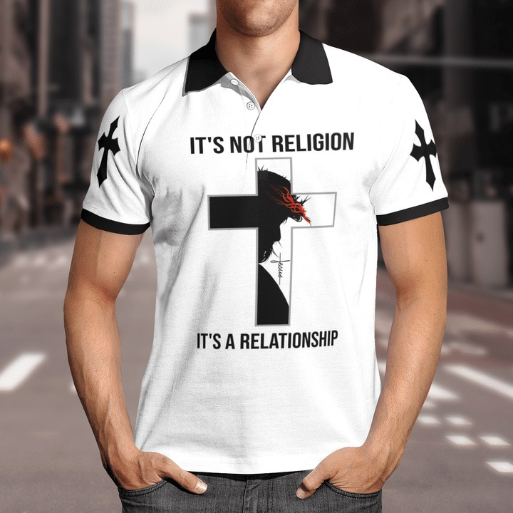 It's not religion it's a relationship 3D All over print polo and shirt