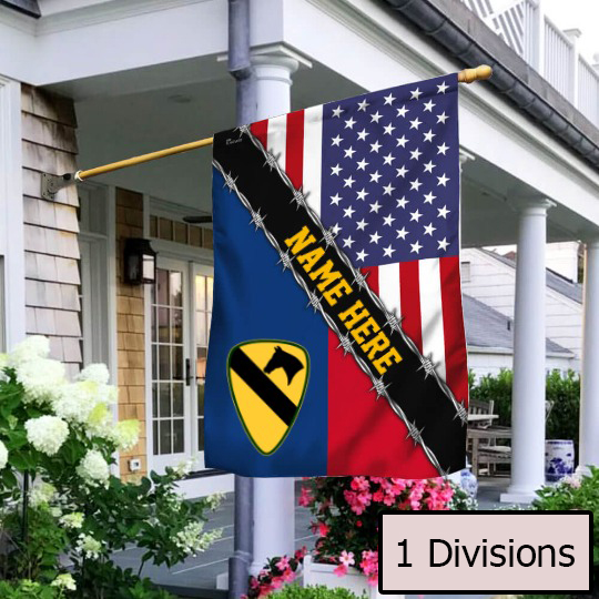 Personalized Flag United States Cavalry Divisions