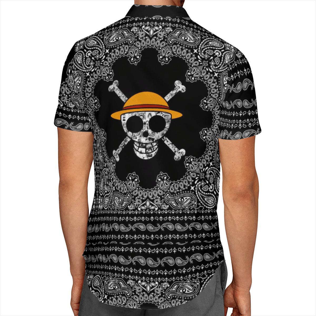 One Piece Monkey D.Luffy Skull Aloha Hawaiian Shirt And Short