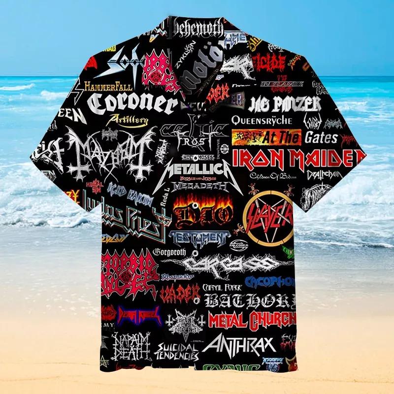 20th Century Classic Rock Band Name Hawaiian Shirt