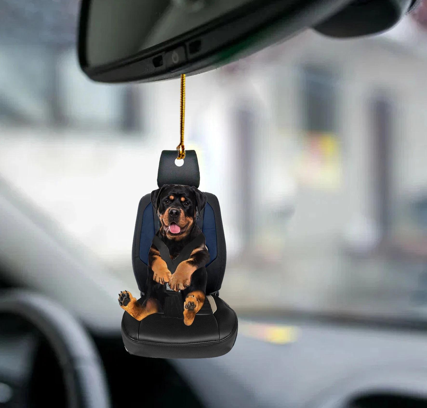 Rottweiler car seat rottweiler lover dog moms ornament