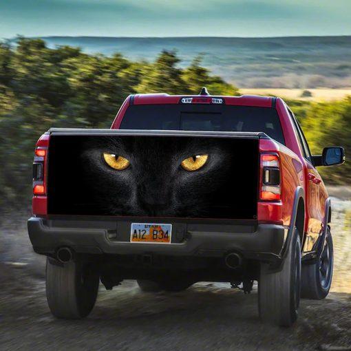 Black Cat Eyes Truck Tailgate Vinyl Graphic Decal Sticker Wrap