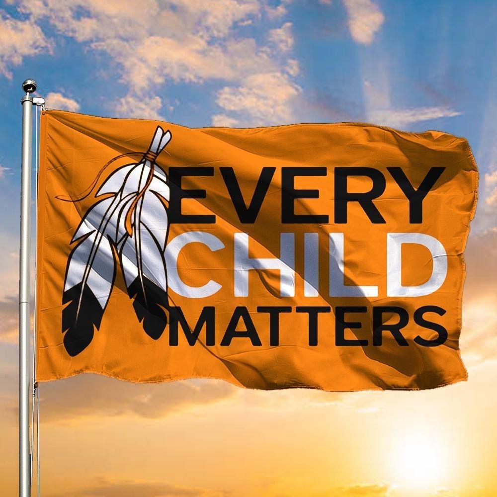 Every child matters flag orange children support