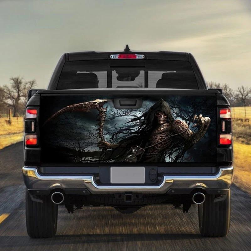 Grim Reaper Horror Truck Tailgate Vinyl Graphic Decal Sticker Wrap