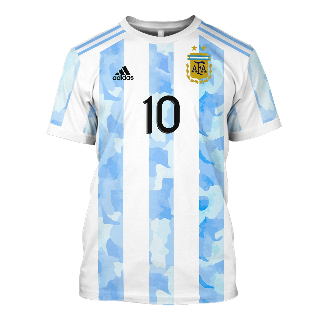 Argentina Messi 10 All Over Print 3D Hoodie And Shirt