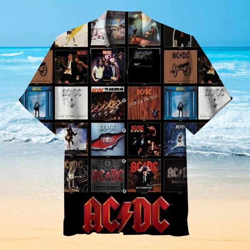 AC DC Metal Rock Representative Album Hawaiian Shirt