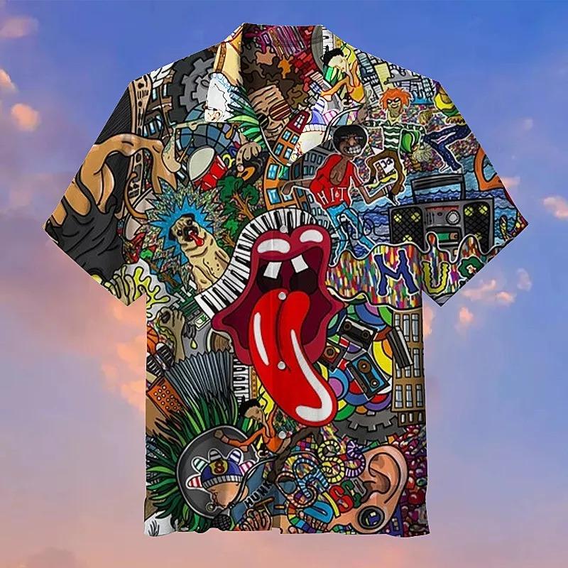 The Rolling Stones Graffiti Hawaiian Shirt