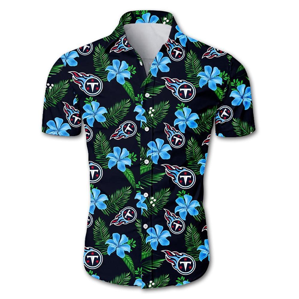 NFL Tennessee Titans Hawaiian Shirt Floral