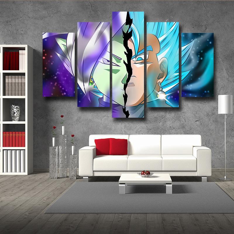 5P Canvas Dragon Ball Fused Zamasu Vegito 5pc Wall Art Print