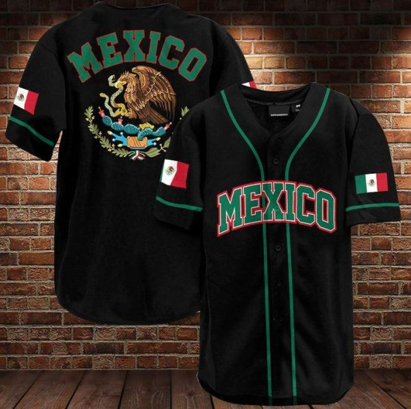 Proud Mexican people baseball Jersey Shirt
