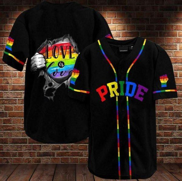 LGBT Support rainbow baseball jersey shirt