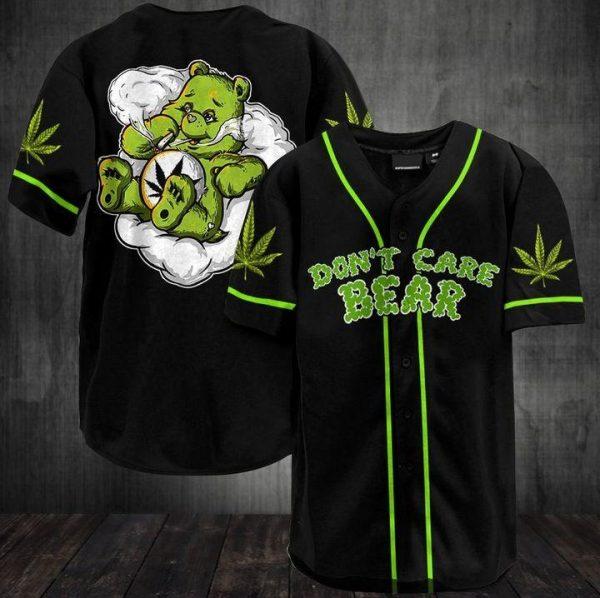 Weed Don't Care Bear baseball Jersey Shirt