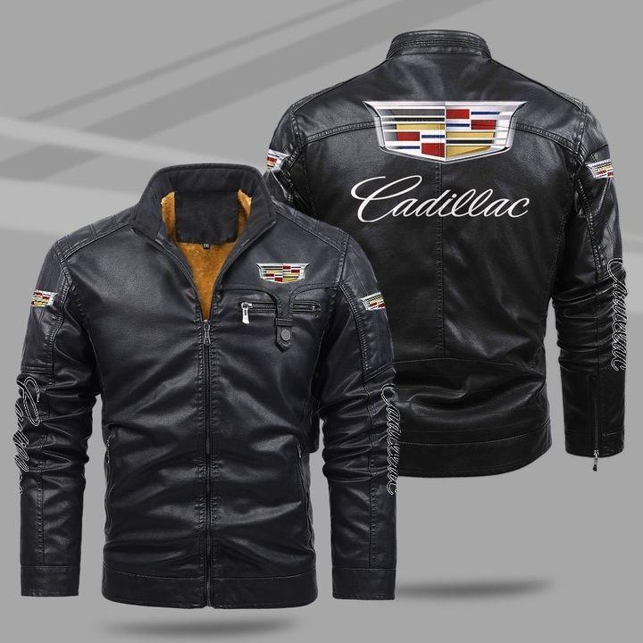 Cadillac Fleece Leather Jacket