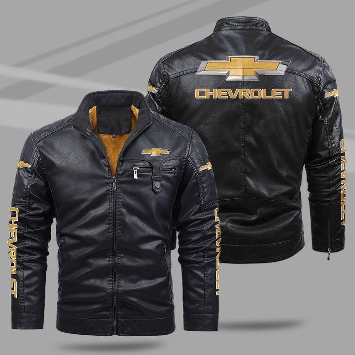Chevrolet Fleece Leather Jacket