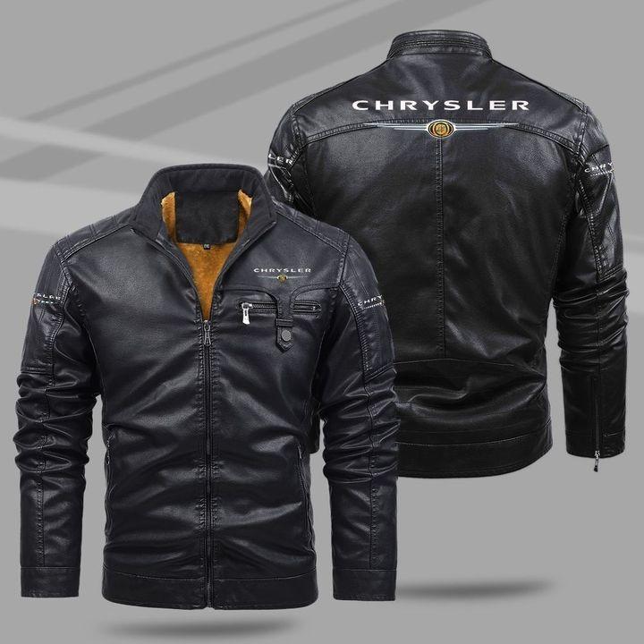 Chrysler Fleece Leather Jacket