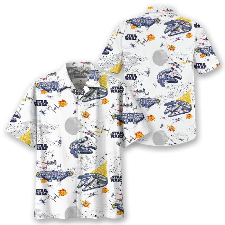 Star Wars Spaceships Short Sleeve Hawaiian Shirt