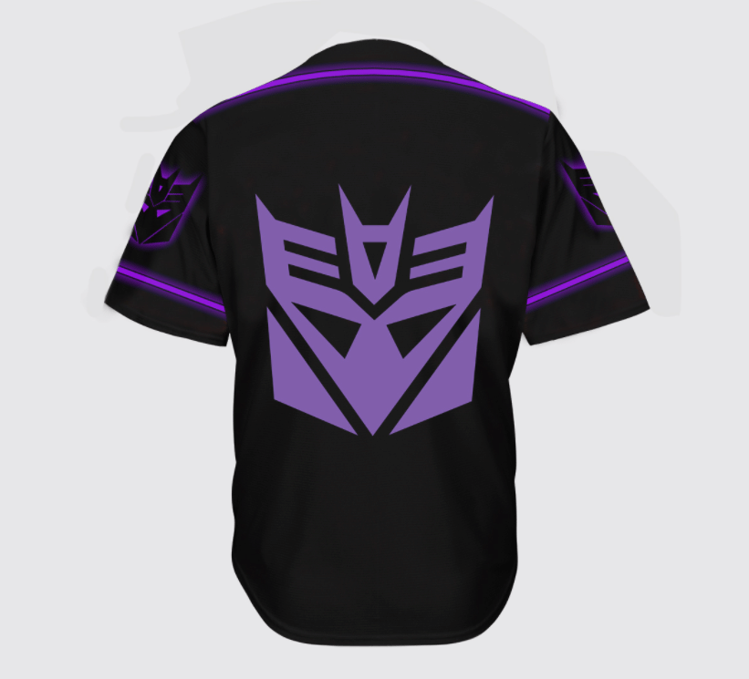 Transformers Decepticon logo baseball Jersey shirt