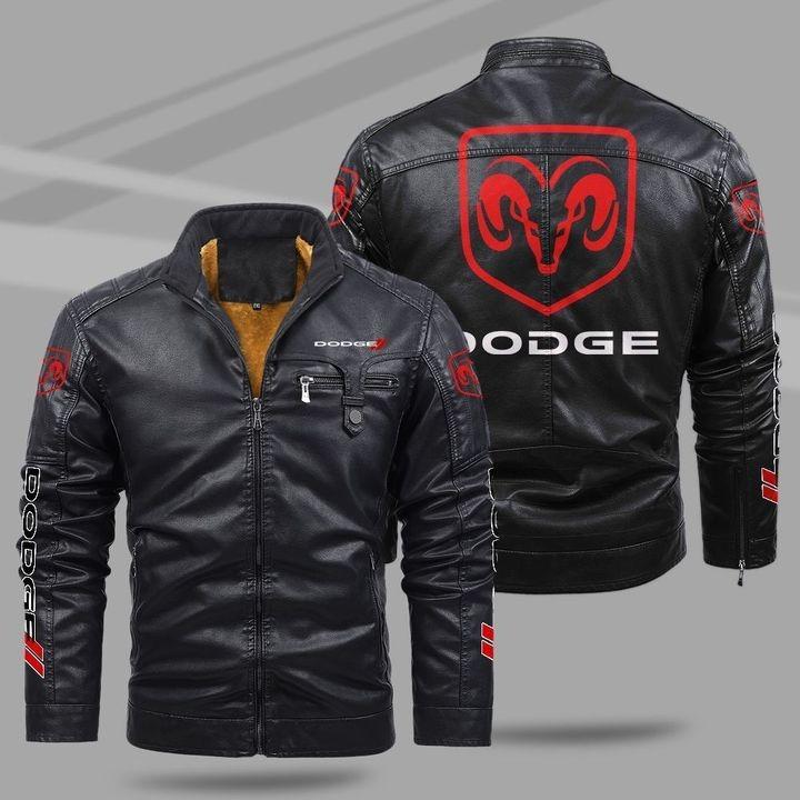 Dodge Fleece Leather Jacket