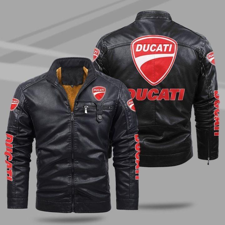 Ducati Fleece Leather Jacket