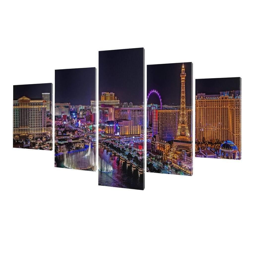 5P Canvas Vegas Strip 5 panel wall art canvas