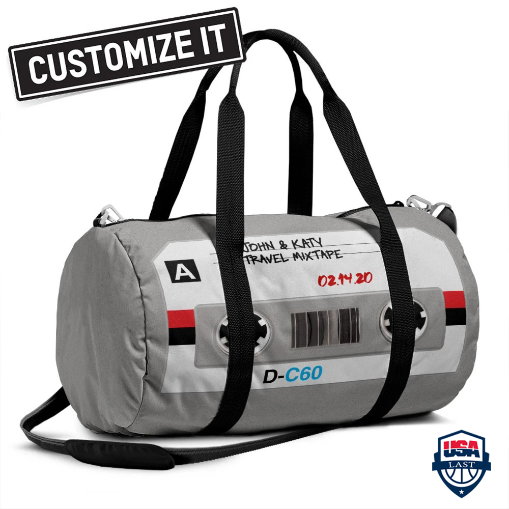 Personalized Cassette Tape Customize Duffle Bag