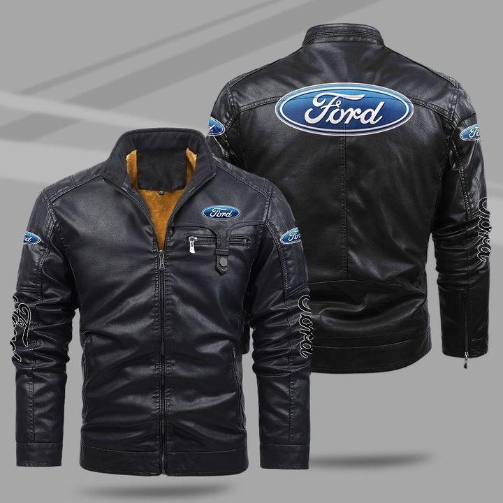 Ford Fleece Leather Jacket