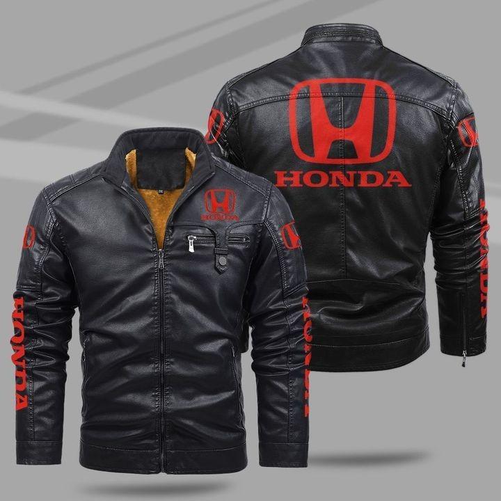 Honda Fleece Leather Jacket