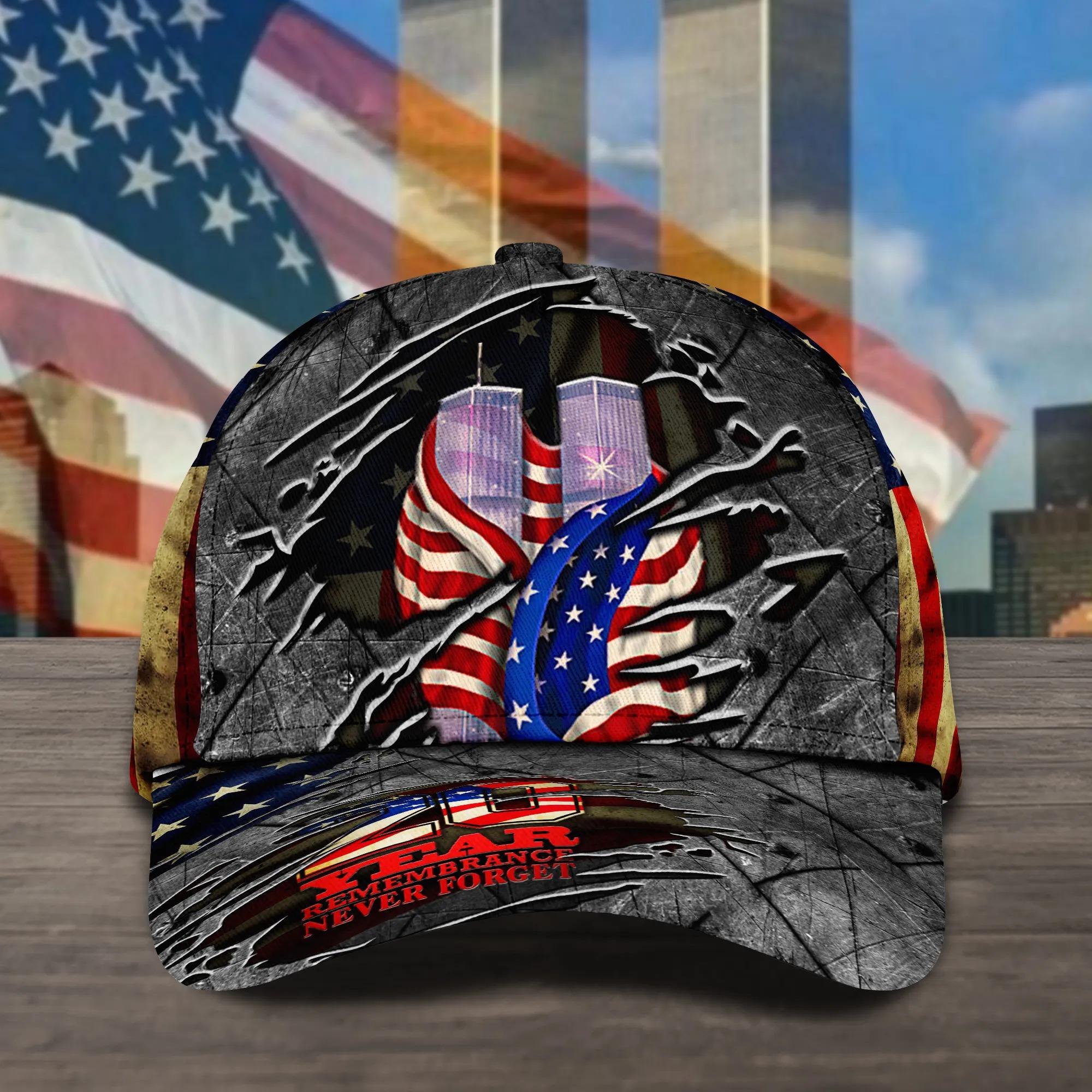 Never Forget September 11th Baseball Cap