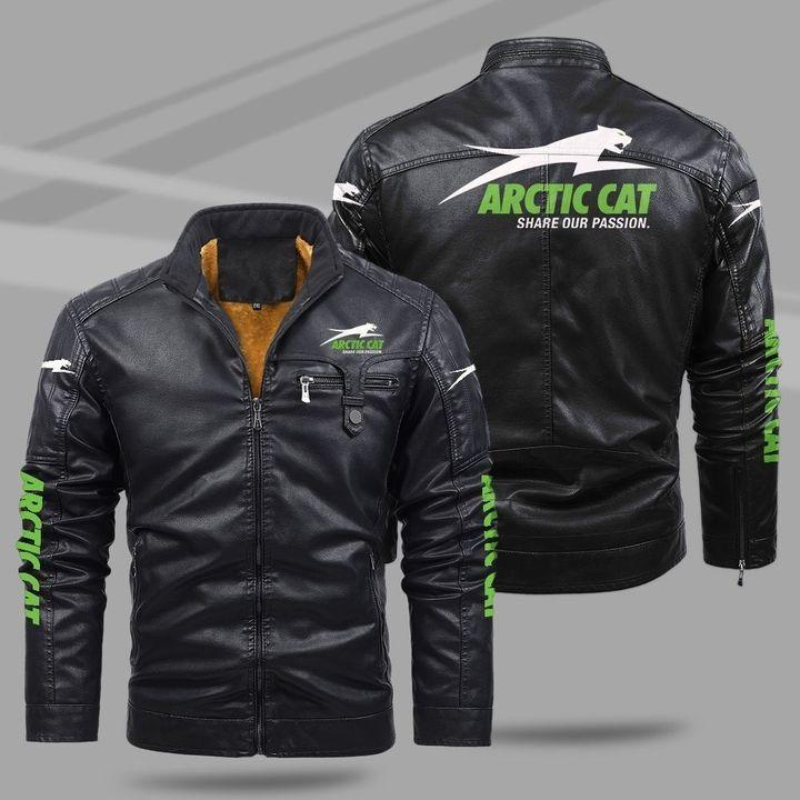 Arctic Cat Fleece Leather Jacket
