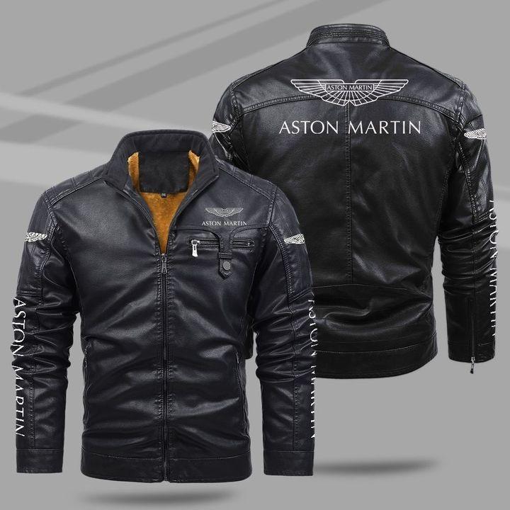 Aston Martin Fleece Leather Jacket