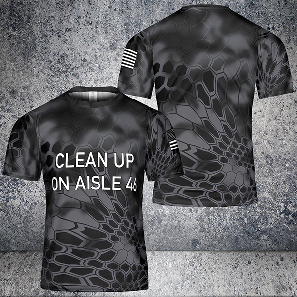 Clean up on aisle 46 3d t-shirt