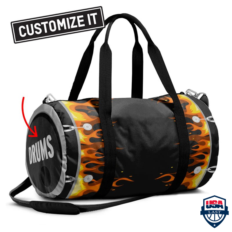 Personalized Bass Drum Fire Duffle Bag