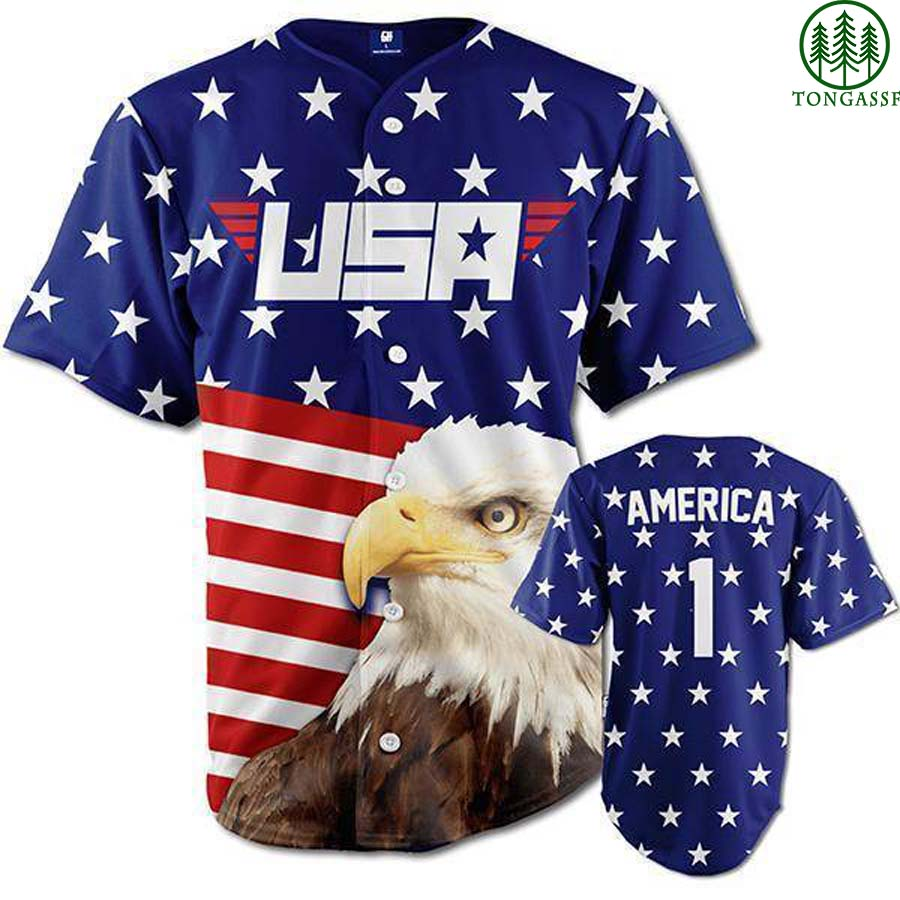 Proud America First baseball Jersey Shirt