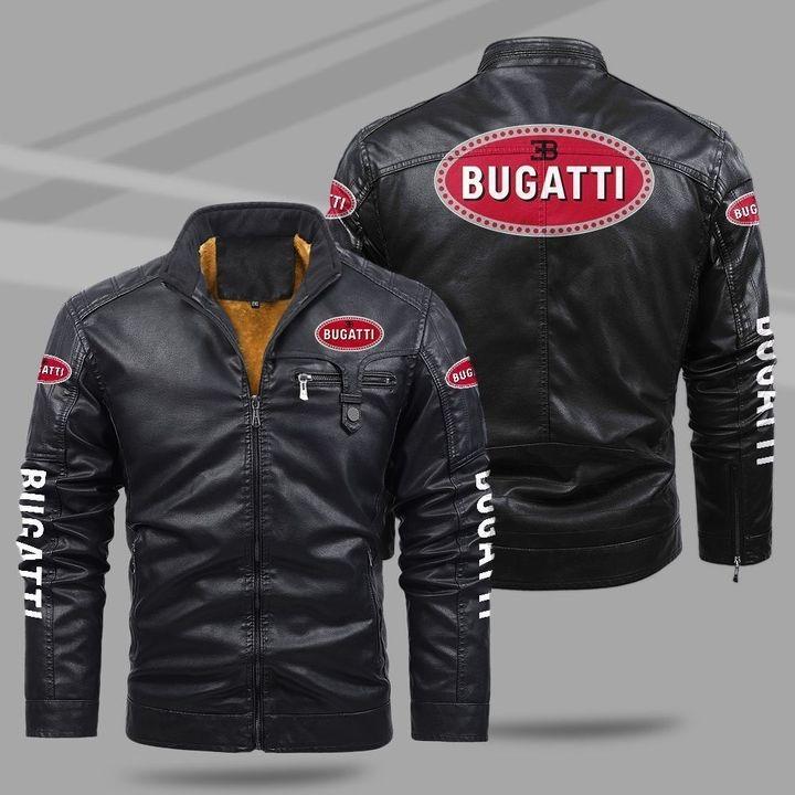 Bugatti Fleece Leather Jacket