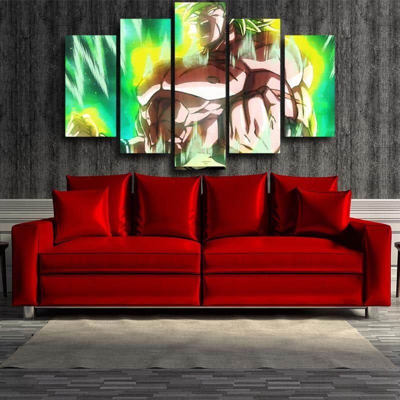 5P Canvas Dragon Ball Fearless Broly Full Power 5 panel Canvas Print