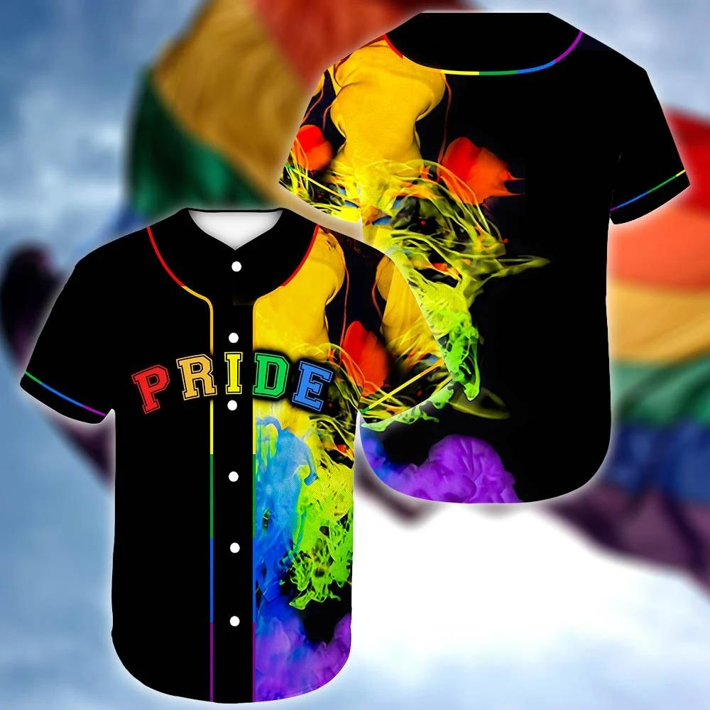 LGBT Pride Queer Full rainbow color Baseball Jersey Shirt