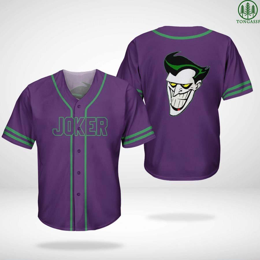 Batman series Joker face baseball Jersey Shirt