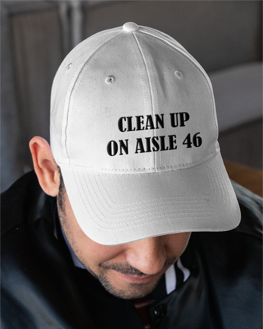Clean Up On Aisle 46 Classic Embroidered Hat Cap 1