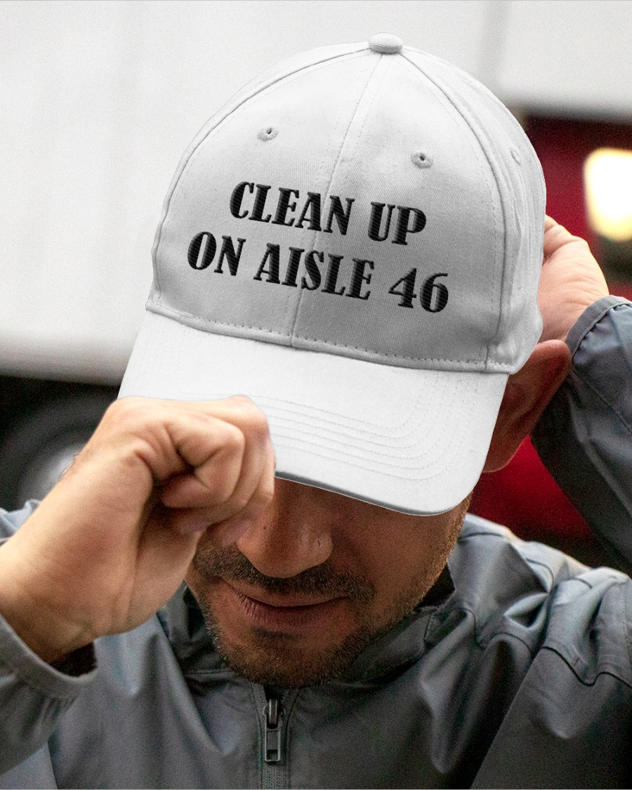 Clean Up On Aisle 46 Classic Embroidered Hat Cap