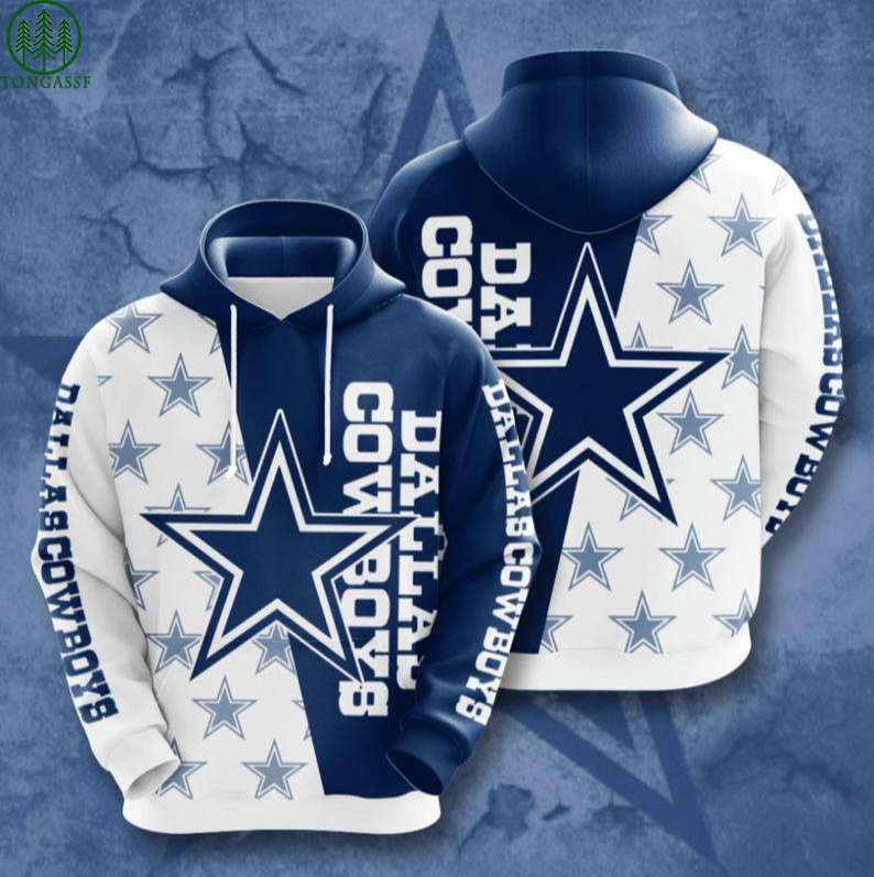NFL Dallas Cowboys Jersey Football 3D Hoodie