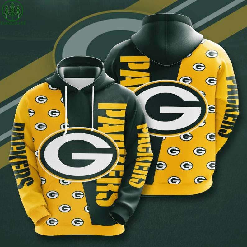 NFL Green Bay Packers Logo 3D Hoodie