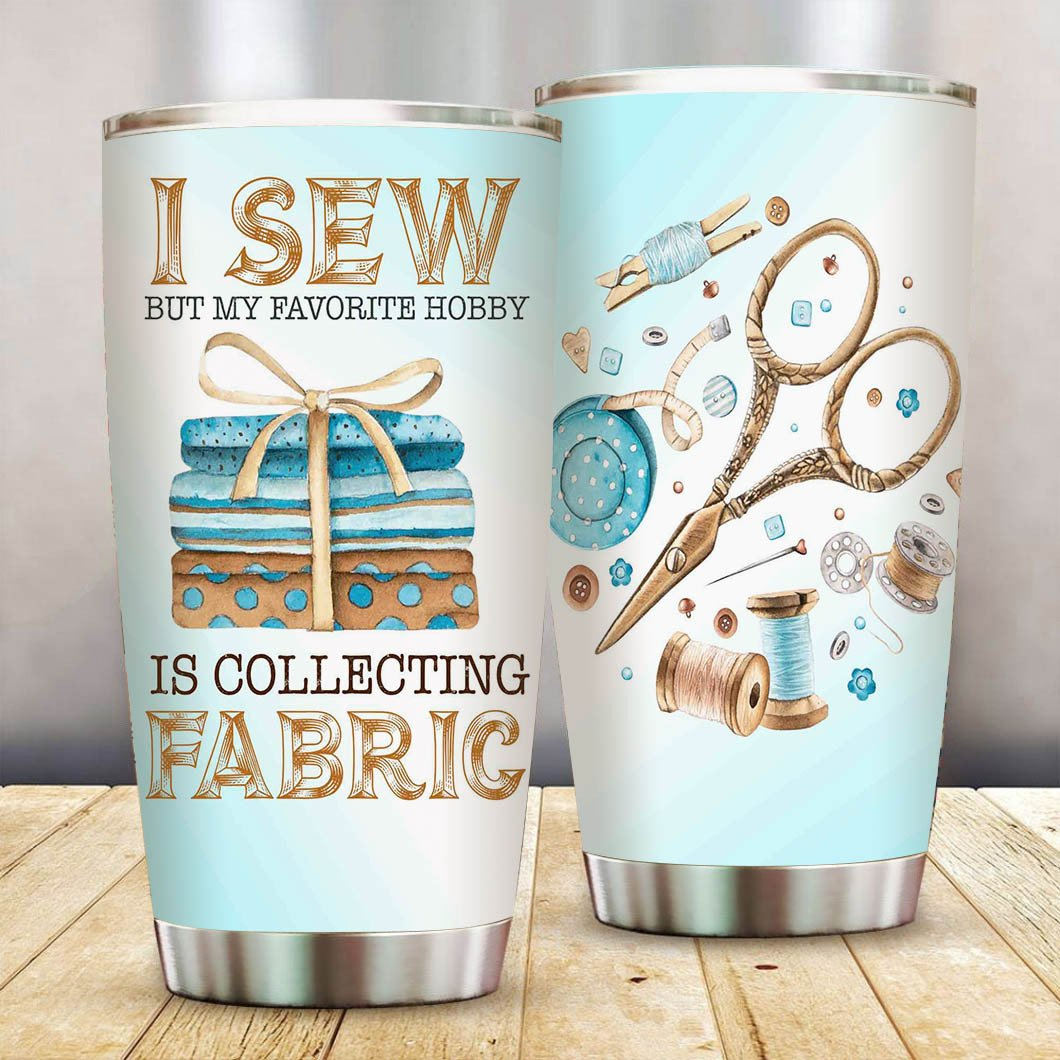 Sew and Collect Fabric SS Tumbler